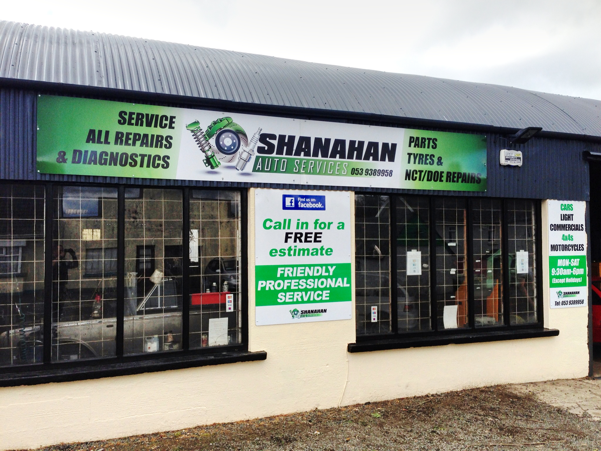 Shanahan Auto Gorey Wexford Shop Image